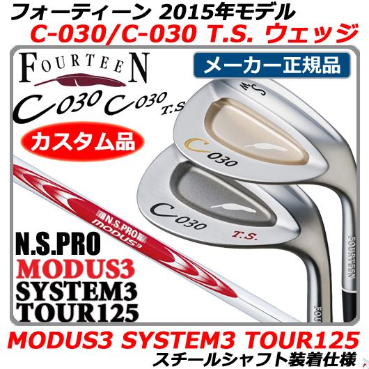 【新品】【送料無料】【2015年モデル】日本正規品・メーカー正規カスタムフォーティーン C-030/C-030 T.S. ウェッジFOURTEEN C030/C030TS WEDGE・MODUS3 SYSTEM3 TOUR125シャフト装着仕様(モーダス3システム3ツアー125)