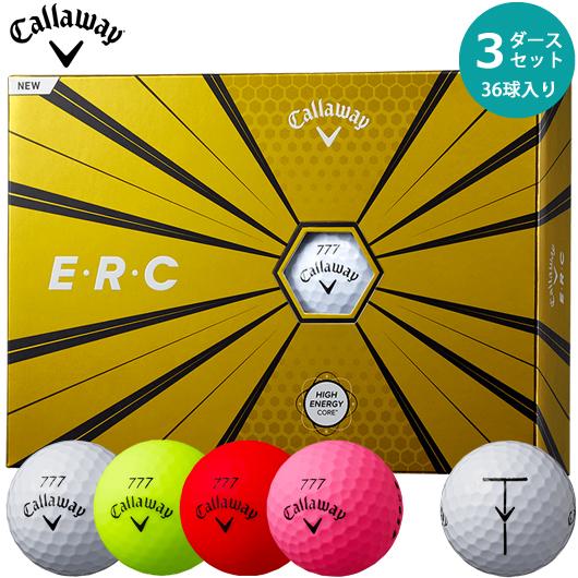 【3ダースセット】キャロウェイ E・R・C ボール 3ダース/36個入り(全4色)#2019年モデル#Callaway#CW#BALL#ERC#ゴルフボール