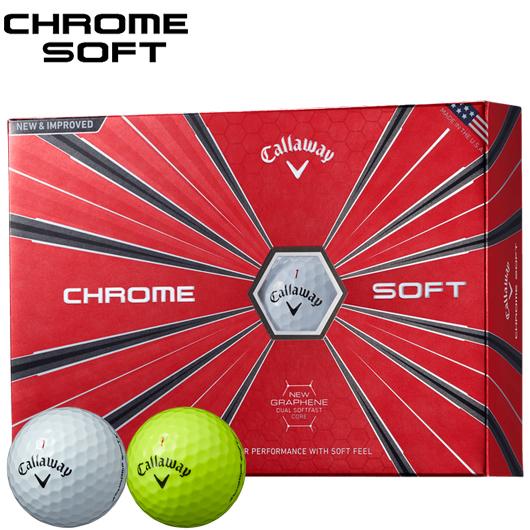 キャロウェイ CHROME SOFT ゴルフボール1ダース/12個入り (全2色)#CW/Callaway/BALL/クロムソフト/グラフェン