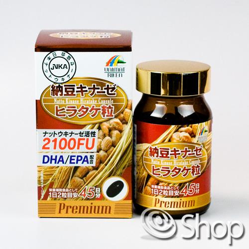 ユニマットリケン 納豆キナーゼヒラタケ粒プレミアム 90粒×10個セット