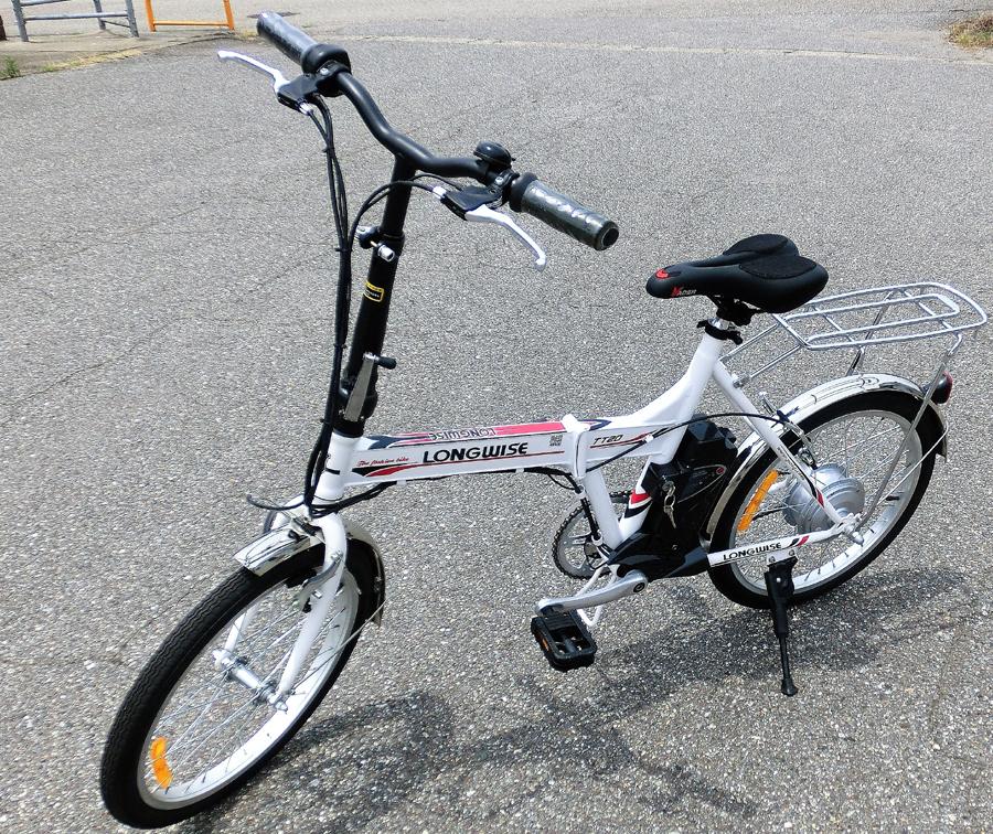 20インチフル電動自転車リチュームバッテリー搭載、白色&黒色あり