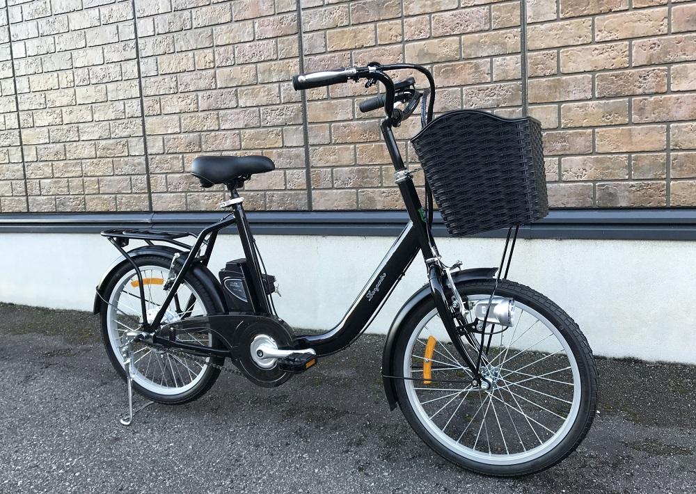 20インチ リチュームバッテリー使用アシスト自転車 黒