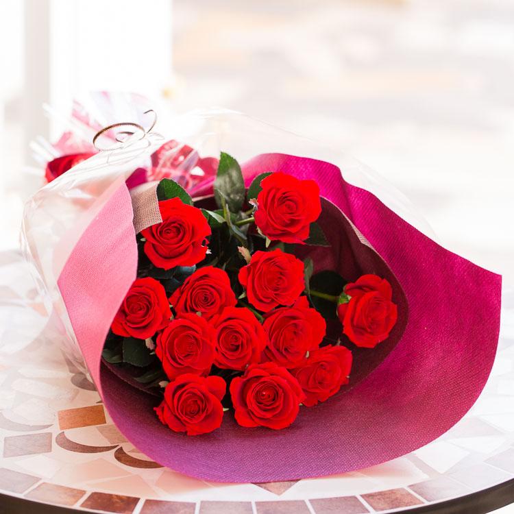 ◆ローゼ/12本 ◆送料無料【プリザーブドフラワー花束】