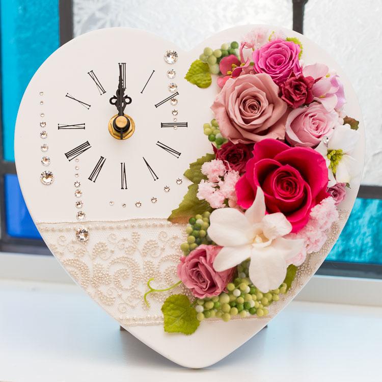 別倉庫からの配送 プリザーブドフラワー 枯れない 花 時計 ヴェネツィア 購買 送料無料 プレゼント ギフト