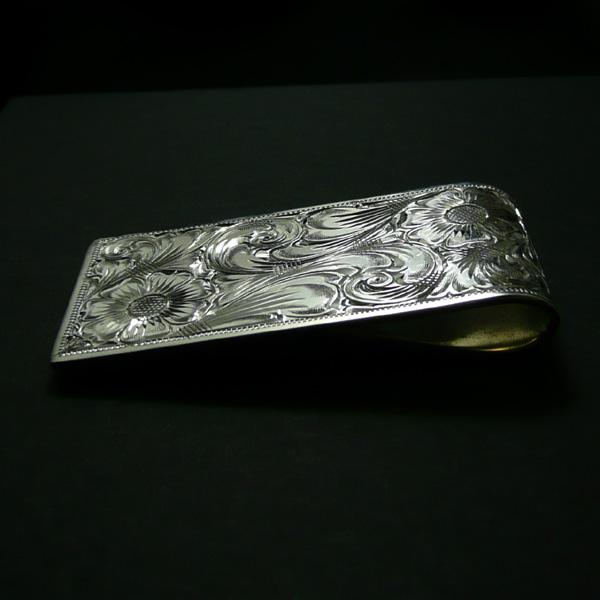 7CROSS/ セブンクロス[シルバー925]【片面彫り】マネークリップ