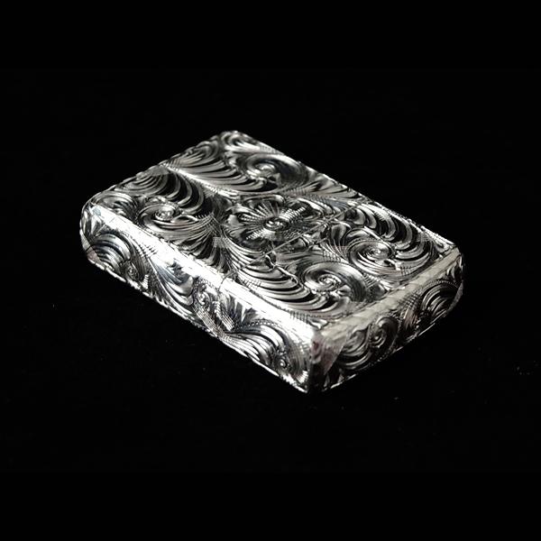 送料無料 zippo カスタム(ハンドメイド,6面手彫り、ジッポ,ジッポー,カスタム、ライター)7CROSS/セブンクロス 銀製(スターリングシルバー 925) カービング