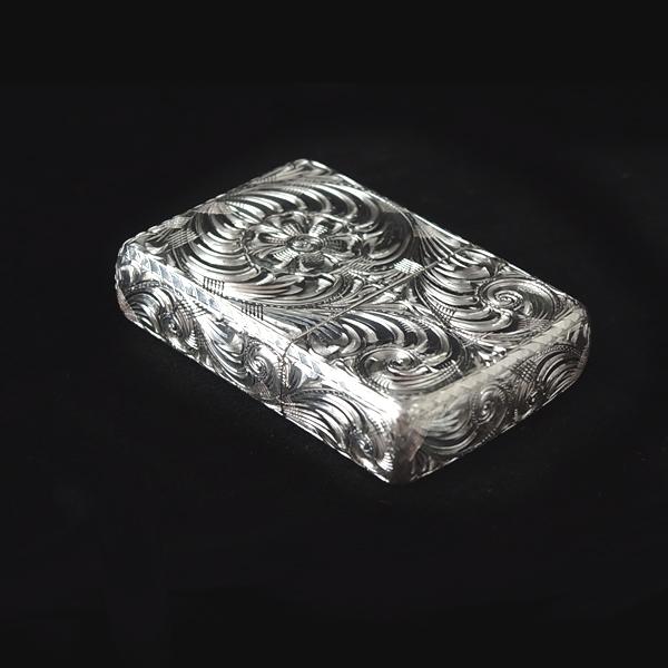 zippo カスタム(ハンドメイド,6面手彫り、ジッポ,ジッポー,カスタム、ライター)7CROSS/セブンクロス 銀製(スターリングシルバー 925) カービング