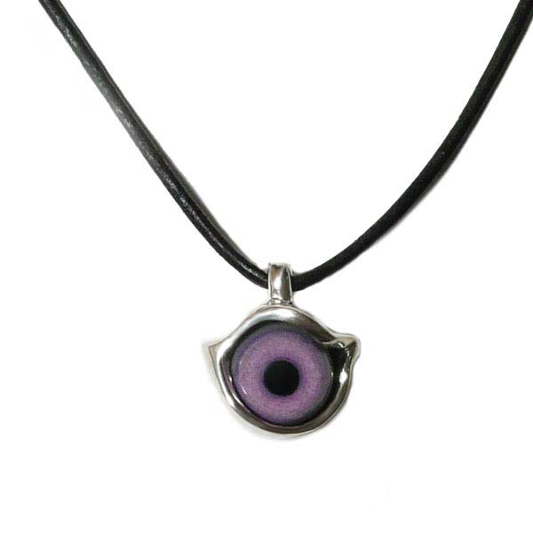 cpd539 crazy pig / prosthetic eye BALL EYE ball is Pendant (Pink) with strap