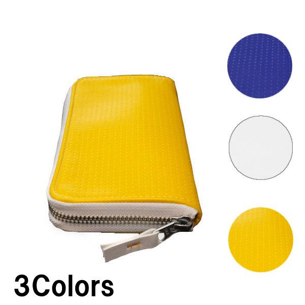 ウォレット ラウンド ジッパー 長財布 (ビーチ) バレー ボール レザー 3色