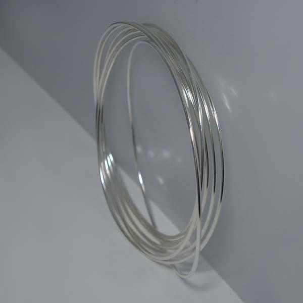 送料無料 バングル レディース メンズ ブレスレット 腕輪 リング 7連リング L シンプル シルバーアクセサリー シルバー925