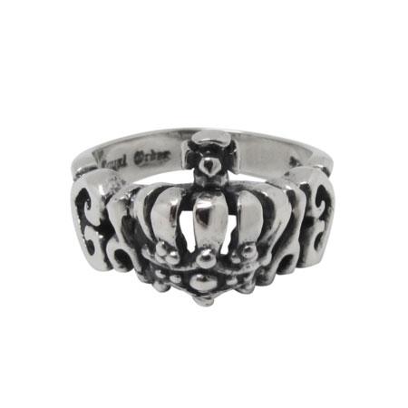 ロイヤルオーダー タイニー アレグラハート ウィズ クラウンリング SR203 指輪:06XY 店