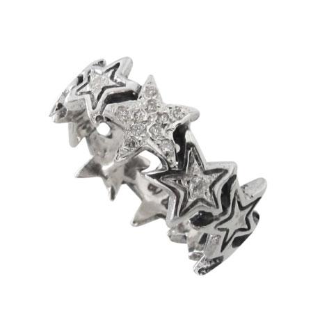ロイヤルオーダー スターシャイン シン バンド ウィズパヴェ ダイヤモンドリング SR841-2-PD指輪