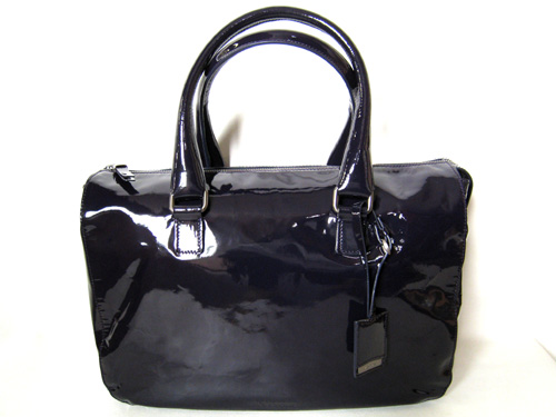 JIL SANDER ジルサンダー トートバッグ 【本物★美品】 上品な紫のエナメル バッグ 【中古】