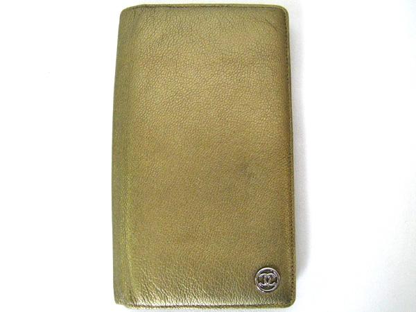 CHANEL シャネル 二つ折り長財布 【本物】 ゴールド系 使い易い 長財布 【本物】