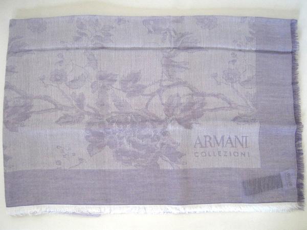 ARMANI COLLEZIONI アルマーニ コレツィオーニ ショール 【本物★未使用品】 薄紫 花柄 ストール