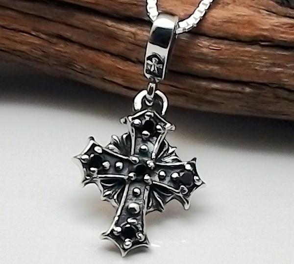 クロスネックレス メンズネックレス ブラックジルコニア 十字架ネックレス シルバーネックレス シルバー925 シンプル クロス ネックレス メンズアクセサリーcL34Rq5Aj