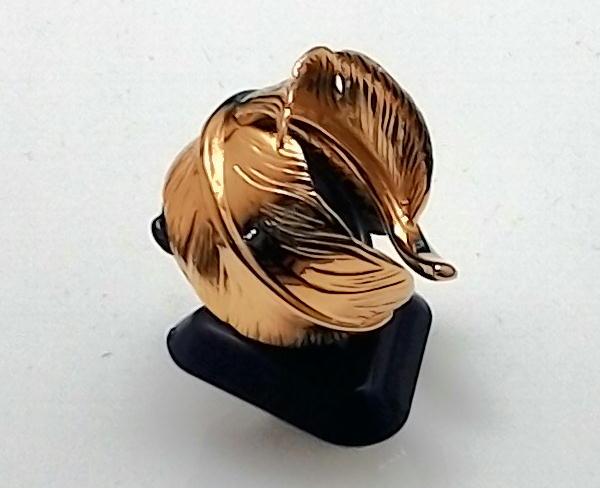 ゴールド フェザーリング 羽 イーグル シルバー925 リング メンズ アクセサリー 金