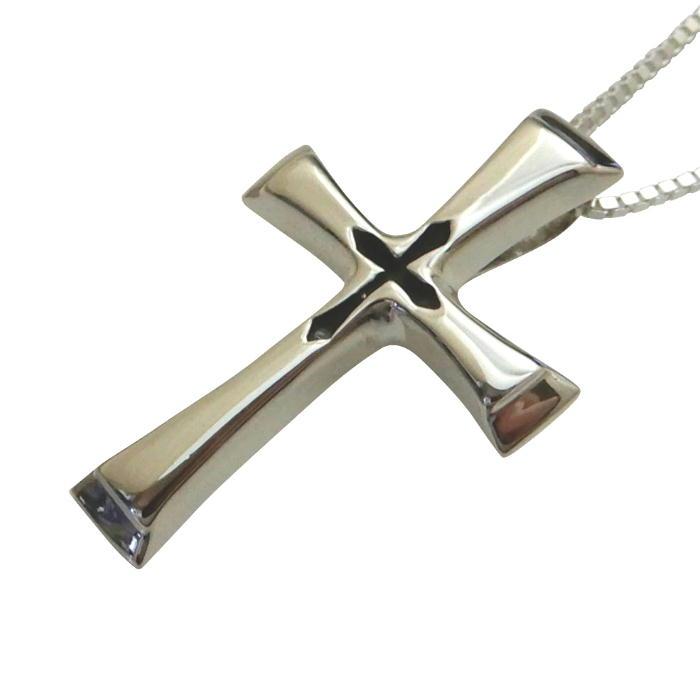 クロス ネックレス 十字架 メンズネックレス シルバーネックレス シルバーアクセサリー シルバー925 クロスネックレス メンズアクセサリー ベネチアンチェーン付き