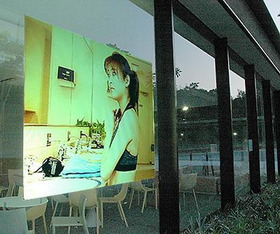 プロジェクタースクリーンリア投影型フィルムスクリーン(粘着剤付き)115cm 幅 RSf-115n