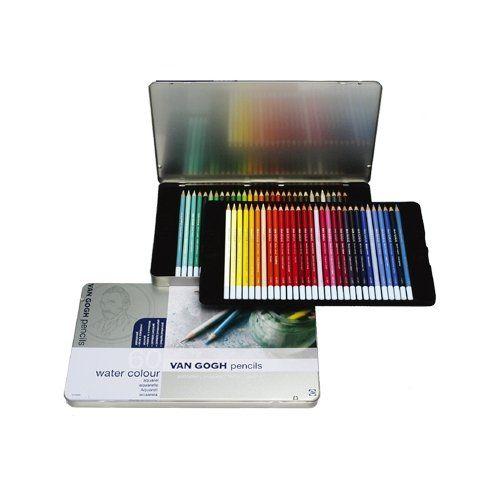 ヴァンゴッホ水彩色鉛筆 60色セット