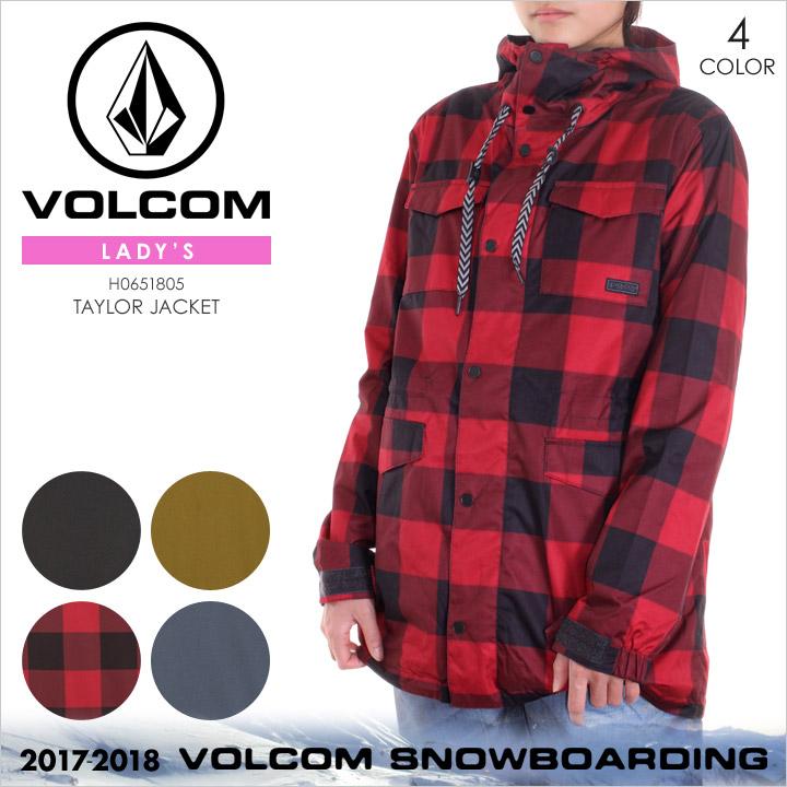 VOLCOM スノーウェア レディース TAYLOR JACKET 2017-2018 秋冬 H0651805 ブラック/モスグリーン/レッド/ネイビー XS/S/M/L/XL 【evi】