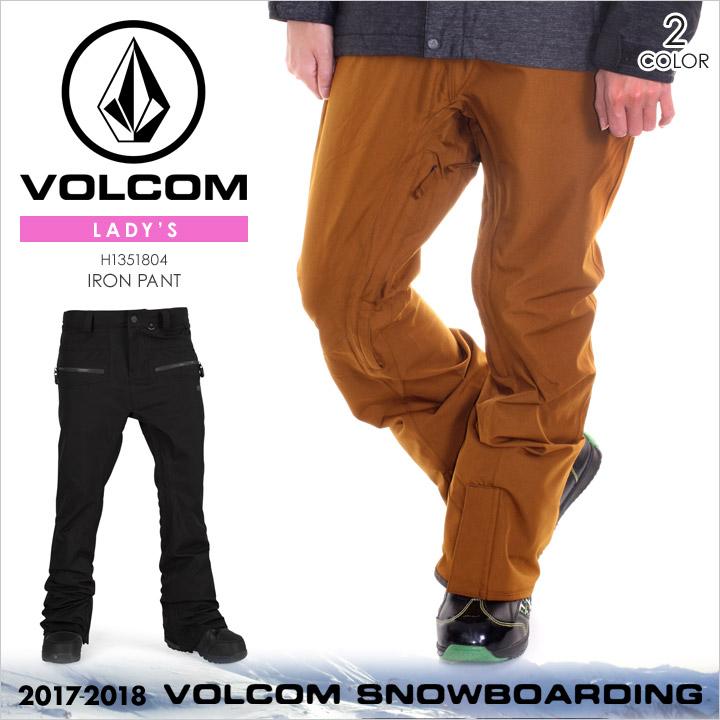 VOLCOM スノーウェア レディース IRON PANT 2017-2018 秋冬 H1351804 ブラック/ブラウン XS/S/M/L/XL 【evi】