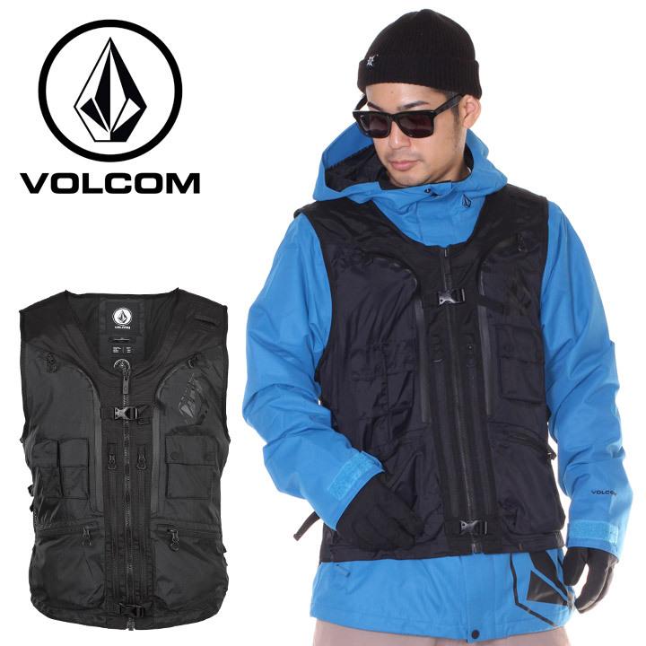 VOLCOM ボルコム スノーウェア メンズ IGUCHI SLACK VEST G0651911 2018-19秋冬 ブラック S/M 【evi】