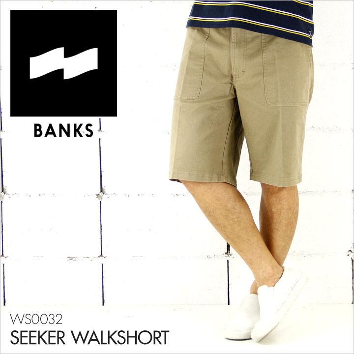 BANKS バンクス ハーフパンツ メンズ SEEKER WALKSHORT [WS0032] 【 チノパン チノショーツ カジュアル シンプル サーフ 膝上丈 】