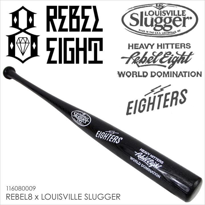 REBEL8 レベルエイト バット メンズ REBEL8 x LOUISVILLE SLUGGER 【 限定 メジャーリーグ ベースボール 野球 硬式用バット ブラック 】 【19WS】