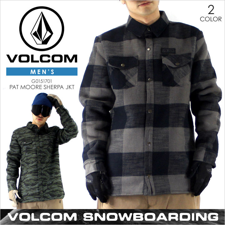 【スノーウェア メンズ】ボルコム VOLCOM PAT MOORE SHERPA JACKET - G0151707 【 VOLCOM SNOW スノー スキー ウエア ジャケット スノーボード チェック 大きいサイズ 】【evi】
