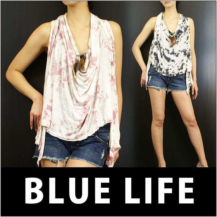 BLUE LIFE ブルーライフ ノースリーブ FREE FLOWING COWL SLVLESS TOP