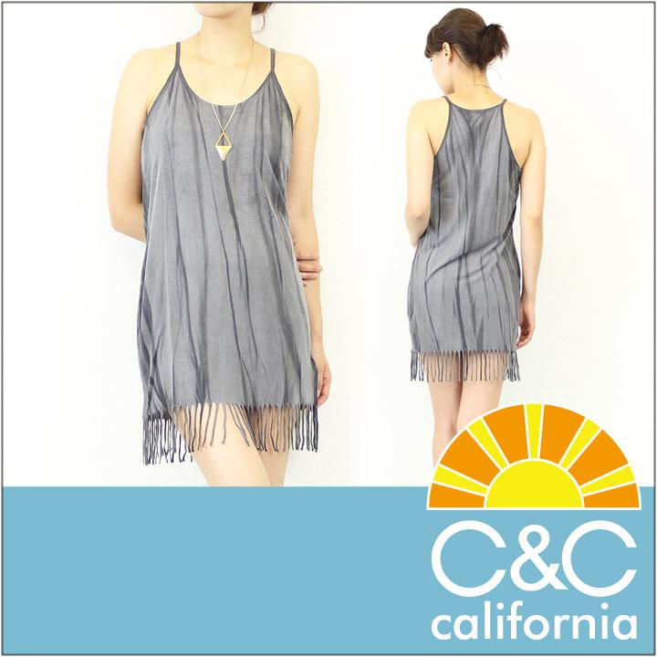 C&C CALIFORNIA / シーアンドシーカリフォルニア フリンジ タンクワンピース FRINGE TANK DRESS