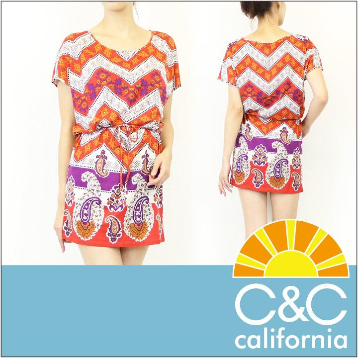 C&C CALIFORNIA / シーアンドシー カリフォルニア ワンピース DISCO DRESS