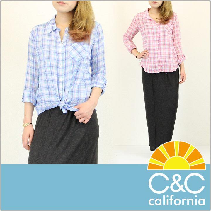 C&C CALIFORNIA / シーアンドシー カリフォルニア ポケット シャツ BASIC ONE POCKET SHIRT