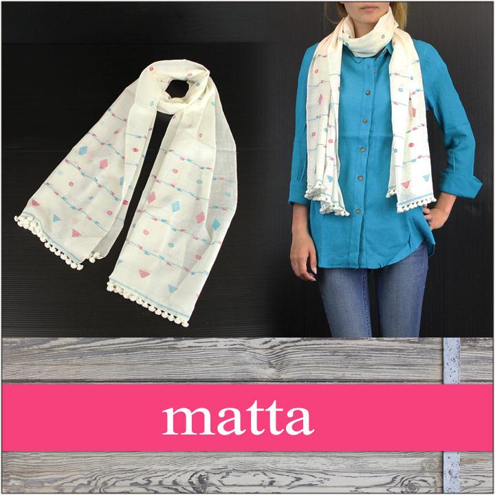 MATTA / マッタ レディース スカーフ CHAYOTE 【 ストール スカーフ マフラー レディース 】 [プレゼント・贈り物にも最適♪]