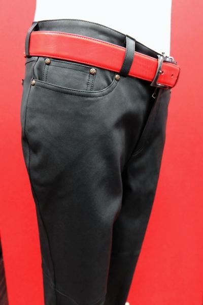 PRANDI レザーパンツ ブラック 【秋冬アウトレット】【送料無料・翌日着荷可】【レザーパンツ】【メンズファッション】