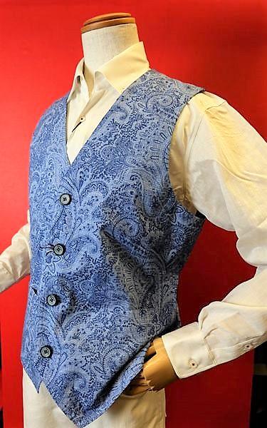 7f5b625e7ff60 メンズファッション ブランド「バラシ イタリア製ペイズリー柄生地ベスト」イタリア製ペイズリー柄生地使用のジレベストです。同素材ジャケット( ...
