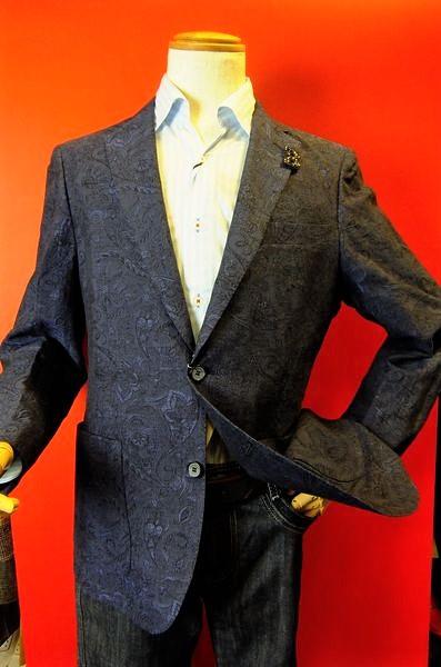 【セール50%OFF】【春夏アウトレット現品限り品】 バラシ barassi 【ジャケット】【メンズ】【ブランド】【メンズファッション】【バラシ服】 イタリア製綿麻生地ジャケット ネイビー