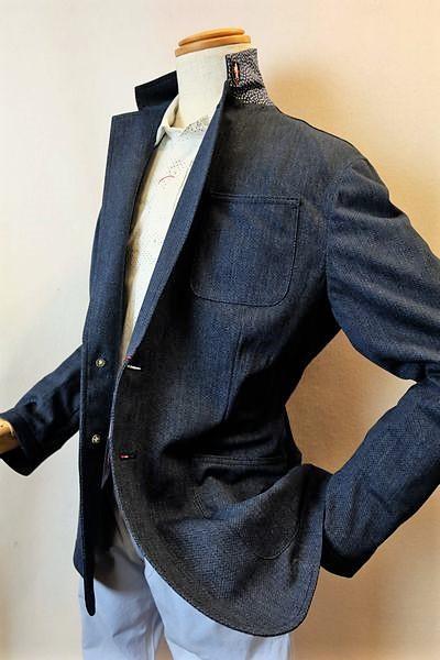 【セール35%OFF】【2018春夏新作】 ラウラフェリーチェ Laura Felice 【ジャケット】【メンズ】【パイピングメッシュ】【ブランド】【メンズファッション】【ラウラフェリーチェ服】 パイピングメッシュジャケット ブルー