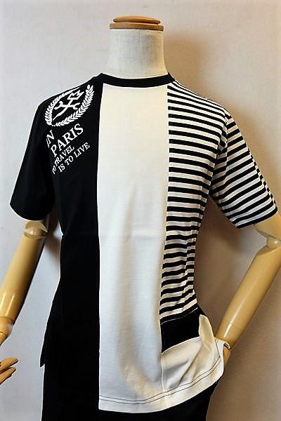 【セール35%OFF】【2018春夏新作】 カステルバジャック CASTELBAJAC 【半袖Tシャツ】【メンズファッション】【カステルバジャック服】フロッキーロゴ切り替え半袖Tシャツ ブラック