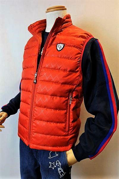 【セール50%OFF】 バジエ VAGIIE 【ダウンベスト】【秋冬アウトレット現品限り品】【メンズウェア】【ダウンジャケット】【アウター】【バジエ服】 キルティング使いコンパクトダウンベスト オレンジ