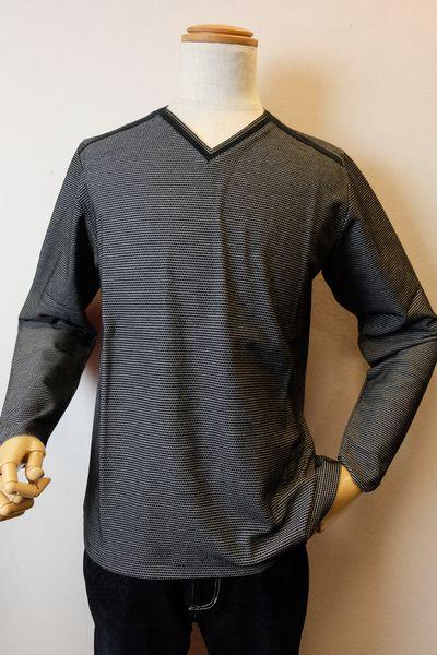 【セール35%OFF】 バラシ barassi 【ロングTシャツ】【春夏アウトレット現品限り品】【メンズウェア】【トップス】【カットソー】【メンズファッション】【バラシ服】 VネックロングTシャツ ブラック