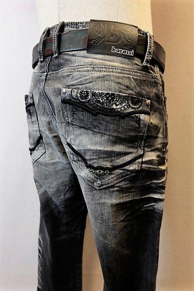 【セール35%OFF】 バラシ barassi 【ジーンズ】【春夏アウトレット現品限り品】【メンズウェア】【ストレッチデニム】【バラシ服】 デザインジーンズ ブラック 100cm/105cm