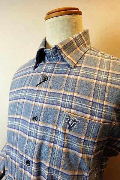 【セール50%OFF】 カリーニ carini 【カジュアルシャツ】【2018秋冬新作】【メンズウェア】【ボタンダウンシャツ】【カリーニ服】 隠れボタンダウンシャツ ブルー