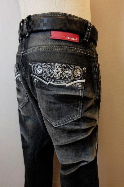 【セール50%OFF】 バラシ barassi 【ジーンズ】【秋冬アウトレット現品限り品】【メンズウェア】【ストレッチデニム】【バラシ服】 デザインジーンズ ブラック 100cm