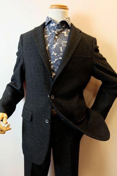 【セール60%OFF】 バラシ barassi 【テーラードジャケット】【秋冬アウトレット現品限り品】【メンズウェア】【アウター】【バラシ服】 ウールストレッチジャケット ブラック