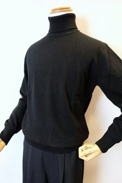 【セール40%OFF】 ジーゲラン GEEGELLAN 【日本製カシミヤセーター】【秋冬アウトレット現品限り品】【メンズウェア】【タートルネックセーター】【トップス】【ジーゲラン服】 カシミヤ100%タートルネックセーター ブラック 3L