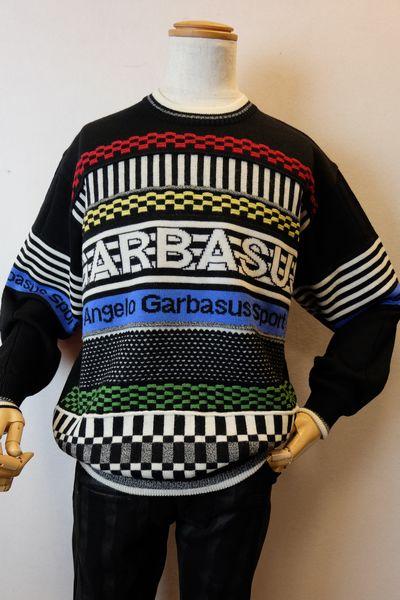 【セール60%OFF】 アンジェロガルバス ANGEROGARBASUS 【セーター】【秋冬現品限り品】【メンズウェア】【ニット】【アンジェロ服】 ロゴセーター ブラック