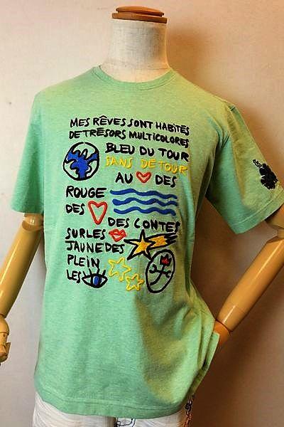 【セール35%OFF】 カステルバジャック CASTELBAJAC 【半袖Tシャツ】【2019春夏新作】【メンズウェア】【ゴルフ】【カステルバジャック服】アート刺繍半袖Tシャツ グリーン
