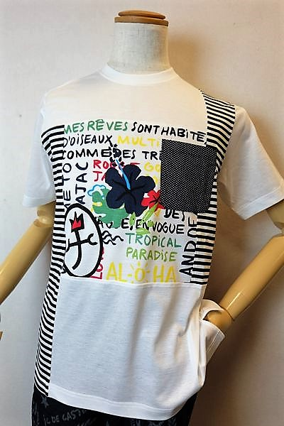 【セール35%OFF】 カステルバジャック CASTELBAJAC 【半袖Tシャツ】【2019春夏新作】【メンズウェア】【ゴルフ】【カステルバジャック服】ポケット付き切り替え半袖Tシャツ ホワイト